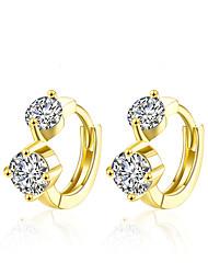 XU Women Fashion Gold Inlay Diamond Ear Clip
