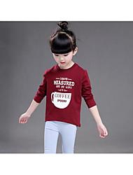 Girl Casual/Daily Print Hoodie & Sweatshirt,Cotton Fall Short