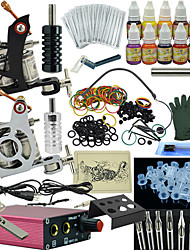 Ophir Complete Tattoo Kit 2 Machine Power Supply Ink Needle Set 12 Colour Motor Equipment 12 Ink Set
