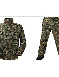 Men Spring Autumn Camouflage Hunting Suits Camo Jacket Coat With Trousers for Outdoor Hunting & Fishing (Price For Items  JacketTrousers)