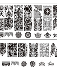 Lace Printing Nail Art Stamping Decor DIY Manicure Stamping Plates for Nails Templates Salon Tools BC03