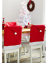 1pcs Santa Clause Red Hat Chair Back Covers Christmas Ornament