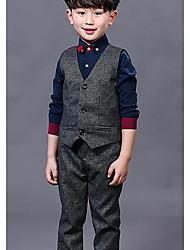 Boy's Formal Solid Shirt / VestCotton Spring / Fall Blue / White / Gray