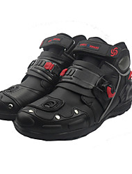 Men's Boots Leather Winter Outdoor Cycling Platform Black Flat