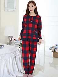 Feminino Pajama Algodão Feminino