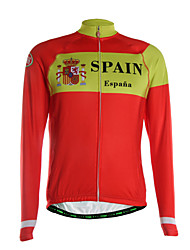 Sports Cycling Jersey Men's Long Sleeve Breathable / Thermal /Quick Dry/ Back Pocket / Ultra Light Fabric Bike