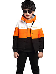 Boy's Casual/Daily Color Block Suit & BlazerCotton / Polyester / Spandex Winter Blue / Orange