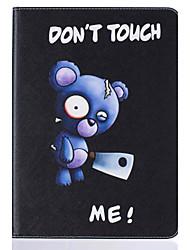 Pour Porte Carte Avec Support Clapet Motif Coque Coque Intégrale Coque Animal Dur Cuir PU pour Apple iPad 4/3/2