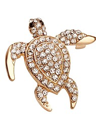 Hot Sale Shining Crystal Turtle Brooch for Women