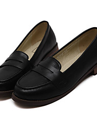 Women's Loafers & Slip-Ons Spring Summer Fall Winter Comfort PU Casual Chunky Heel Block Heel Split Joint