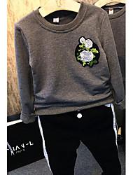 Tee-shirts Boy Fleur Décontracté / Quotidien Coton Printemps / Automne Gris