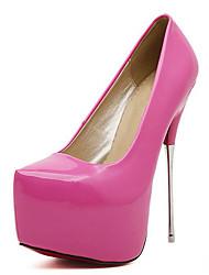 Women's Heels Spring / Fall Platform PU Wedding / Party & Evening / Dress Stiletto Heel Others Black / White / Peach /