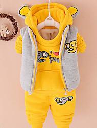 Pull à capuche & Sweatshirt Boy Imprimé Décontracté / Quotidien Coton Hiver / Printemps / Automne Rose / Jaune