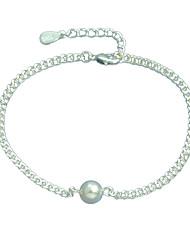Bracelet Chaînes & Bracelets Argent sterling Forme de Cercle Mode Soirée / Quotidien / Décontracté Bijoux Cadeau Argent,1pc