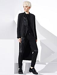 De las mujeres Pantalones Chinos-Simple Microelástico-Algodón / Nailon / Licra