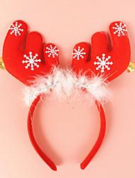 2pcs chifres com headband ouvidos Bell Buckle feriado maquiagem vestido de natal decorações adereços