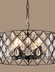 40w Pendant Light ,  Vintage / Retro / Country Painting Feature for Crystal / Designers MetalLiving Room / Bedroom / Dining Room / Study