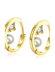 XU Women Fashion With Diamonds Pearl Ear Clip