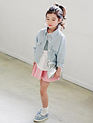 Girl's Casual/Daily Solid SkirtCotton Spring / Fall Pink / Gray