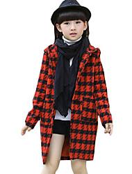 Costume & Blazer Fille Décontracté / Quotidien Pied-de-poule Tweed Printemps / Automne Manches longues