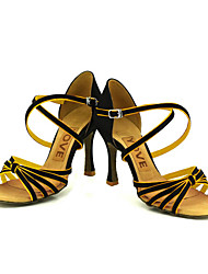 Customized Women's Satin Arch Strap Latin / Ballroom Dance Performance Shoes