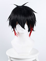 no.15 maison détention jyugo noir et rouge Perruques perruques synthétiques perruques de costume