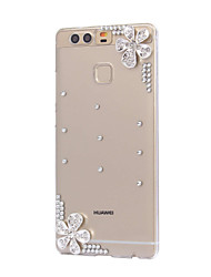 DIY Silver Flowers Pattern PC Hard Case for Huawei P9 Plus LITE P8 LITE Honor 8 7 6 6Plus 5C 5X 4X 4C 4A Mate8 7