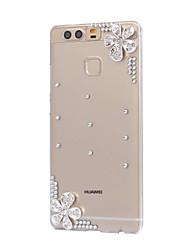 diy fleurs d'argent motif pc étui rigide pour p9 de Huawei Plus Lite honneur lite p8 8 7 6 6plus 5c 4x 5x 4a 4c s'accoupler 9 8 7