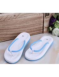 Damen-Sandalen-Lässig-PVC-Flacher Absatz-Komfort-Schwarz / Blau / Rosa