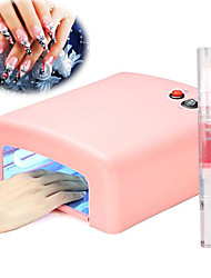 36w uv Nail Lamp Light Therapy Machine 4Light Tube1Cuticle Revitalizer Oil
