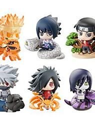 Naruto Hokage PVC 6cm Anime Action Figures Model Toys Doll Toy 1set