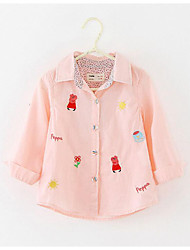 Girl's Casual/Daily Print BlouseCotton Spring / Fall Pink / White
