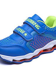 Unisex Sneakers Spring / Summer / Fall / Winter Comfort PU Outdoor / Athletic / Casual Flat Heel Hook & Loop Blue