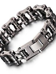 Homme Chaînes & Bracelets Mode Mat Acier inoxydable Forme Géométrique Bijoux Pour Soirée Halloween Anniversaire Quotidien Décontracté