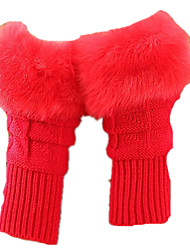 Girls Autumn And Winter Cute Gloves (Red A Pack Of Two Pairs)