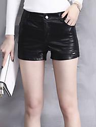 Damen Hose - Sexy / Einfach Kurze Hose PU Unelastisch