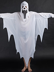 Unisex Halloween Costumes Cosplay Long Sleeve Robe Mask White Ghost  Demon Clothing  Suits