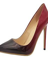 Красный / Бежевый-Женская обувь-Для офиса / Для праздника / Для вечеринки / ужина-PU-На шпильке-На каблуках-Обувь на каблуках