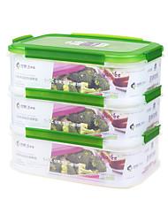 durável Fácil lancheiras 3-compatment recipiente bento almoço (* 3p 2.3l)
