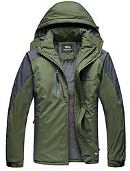 Men's Casual/Daily / Sports Simple Jackets,Solid Hooded Long Sleeve Fall / Winter Multi-color Cotton Thick