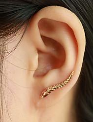 Damen Ohrstecker Ohr-Stulpen Modisch Elegant Modeschmuck Blattform Flügel Schmuck Für Alltag Normal