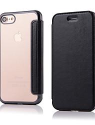 Pro iPhone 8 iPhone 8 Plus iPhone 7 iPhone 6 Pouzdro iPhone 5 Pouzdra a obaly Flip Oboustranný Carcasă Pevná barva Pevné Umělá kůže pro