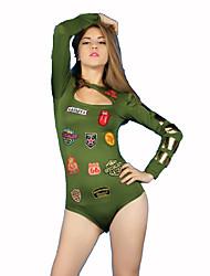 Costumes de Cosplay Costume de Soirée Soldat/Guerrier Costumes de carrière Fête / Célébration Déguisement d'Halloween Vert Imprimé