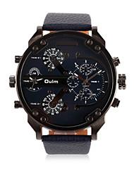 Men's Fashion Watch Quartz Leather Band Casual Black Blue Brand