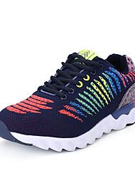 Femme-Sport-Noir / Bleu / Gris / Multi-couleur-Talon Plat-Confort-Chaussures d'Athlétisme-Tulle