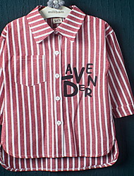 Girl Casual/Daily Striped Shirt,Cotton Spring / Fall Long Sleeve
