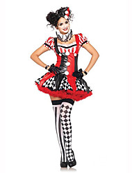 Circus Festival/Holiday Costumes Dress / Headwear / Choker / Gloves Female Polyester