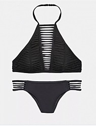Bikinis Aux femmes Polyester