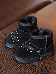 Boy's Boots Winter Others / Comfort Cowhide Casual Zipper Black / Gray