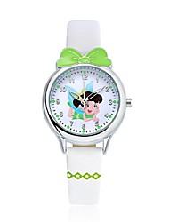 KEZZI Kids' Fashion Watch Wrist watch Casual Watch Quartz Japanese Quartz Casual Watch PU Band Cartoon Casual White Blue Red Pink Purple